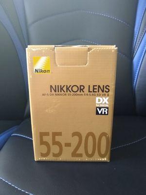 Nikon Nikkor Lens 55-200mm f/4-5.6G DX VR II Like New for Sale in Miami, FL