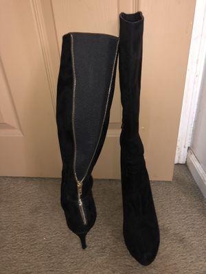 7.5 velvet high heel boots for Sale in Bensalem, PA
