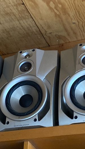 Pair (2) of Big Sony Bookshelf Floor Speakers Built in Subwoofer for Sale in Pasadena, CA