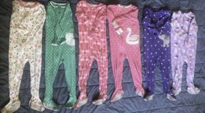 3T Footed onesies pajamas girl warm pjs fleece cotton for Sale in Los Angeles, CA
