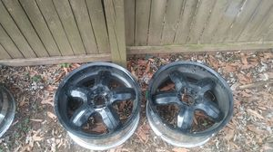 4 18 inch 5 lug Universal black rims for Sale in Poolesville, MD