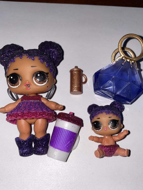 """Lol Dolls """"purple queen"""" and lil sis"""