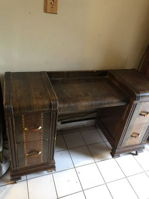 Antique wooden desk for Sale in Aldie, VA