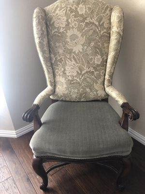 Oversized upholstered wing back chair for Sale in Allen, TX