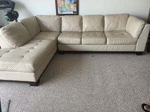 High end genuine leather Sectional couch for Sale in Elk Grove, CA