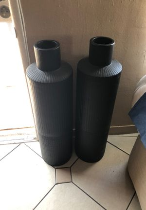 Black vases for sale $50 each or Best offer for Sale in Anaheim, CA