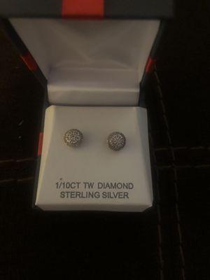 1/10 CT diamond earrings for Sale in Jasonville, IN