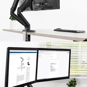"""Brand New $35 VIVO (V002O) Fully Adjustable Dual Monitor Stand, Desk Mount, Screens up to 27"""" for Sale in Santa Fe Springs, CA"""