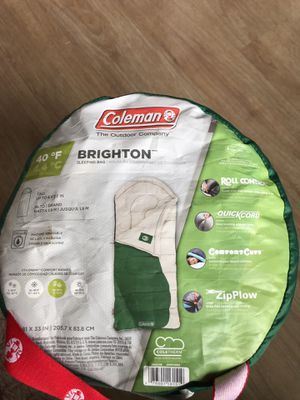 Coleman Sleeping Bag 40F - Coleman Brighton for Sale in Fairfax, VA