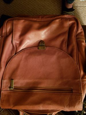 Leather laptop bag, shoulder or backpack style strap, barely used and purchased for 140 for Sale in Hamilton Township, NJ