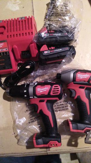 Milwaukee 18v drill set brand new for Sale in Hazleton, PA