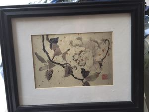 3 Asian art, framed - 1 missing glass for Sale in Salem, MA