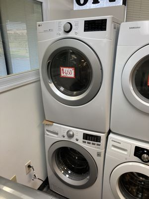 LG front load washer & electric dryer set in excellent condition with 4 months warranty for Sale in Laurel, MD