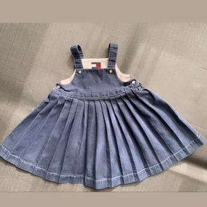 Tommy Hilfiger Pleated Overall Dress Size 6-12 Months for Sale in Henderson, NV