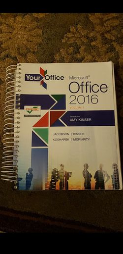 MICROSOFT OFFICE 2016 VOLUME 1 TEXTBOOK for Sale in Bolingbrook,  IL