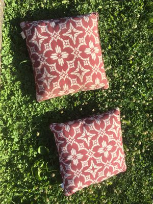 Two red throw pillows for Sale in Hinsdale, IL
