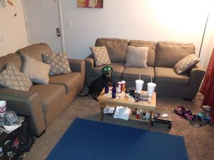 Ashley furniture love seat w/ sofa and throw pillows for Sale in Wichita, KS