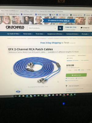 EFX audio cables - 20 foot/feet (3) for Sale in Dallas, TX