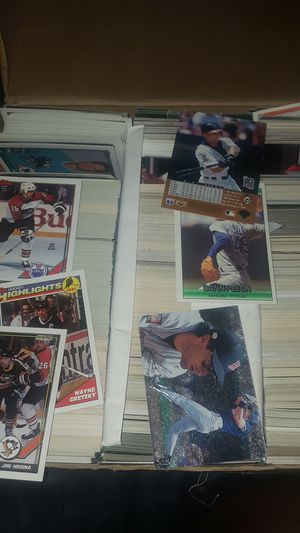 Baseball and hockey card some are also laminated for Sale in Antioch, CA