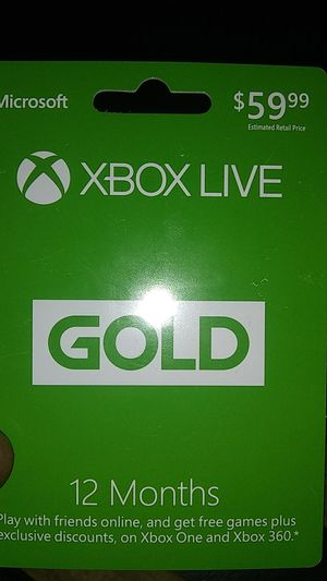 Xbox live gold 12 months 35 for Sale, used for sale  Detroit, MI
