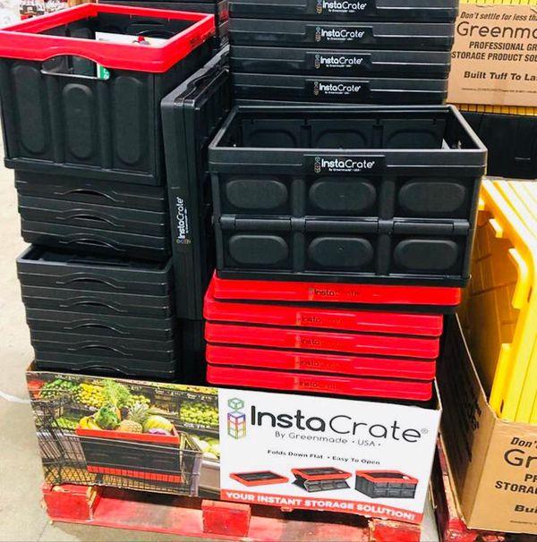 Insta Crate Foldable Storage Bin Container 12 Gallon