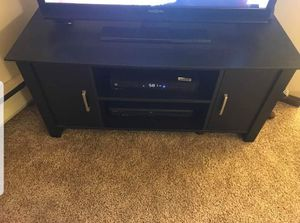 Black TV Stand with Storage Drawers and Shelves for Sale in Wilkes-Barre, PA