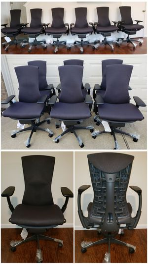 WE SELL ONLY THE BEST OFFICE CHAIRS AVAILABLE TODAY! HERMAN MILLER AERON, EMBODY, MIRRA, EAMES, STEELCASE LEAP V2, GESTURE, ALL IN STOCK IN LA/OC AREA for Sale in Alhambra, CA