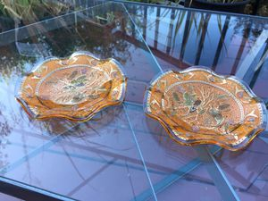 Vintage Japanese art glass plates for Sale in Hayward, CA