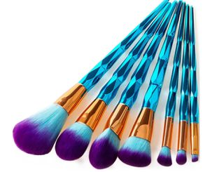 7 piece purple tipped makeup brush set new for Sale in Davenport, IA