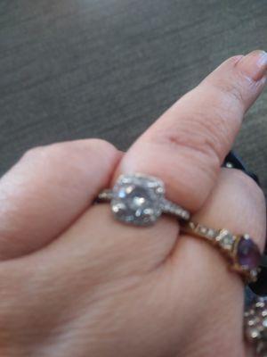 Fake diamond silver ring for Sale in Moorhead, MN
