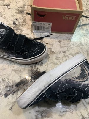 Vans New Sk8-Mid Reissue V Digi Shark Black/True White Youth Size USA 1 for Sale in Washington, DC