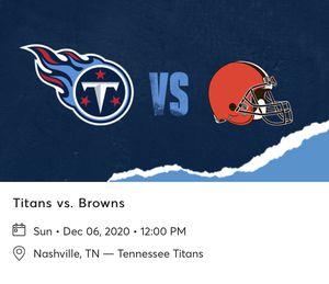 Titans Vs Browns for Sale in Murfreesboro, TN