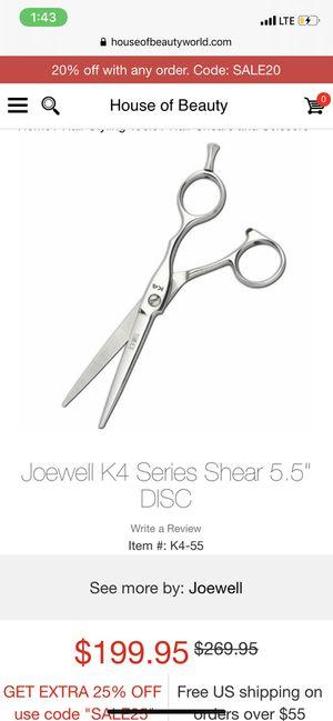 Joewell hair cutting shears for Sale in Aledo, TX