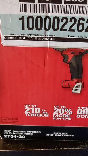 """Milwaukee m18 fuel 3/8"""" impact wrench with friction ring for Sale in Grover Beach, CA"""