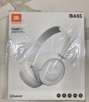 White JBL T460BT Wireless On-ear Bluetooth Headphones JBL Pure Bass Sound SEALED for Sale in FL, US