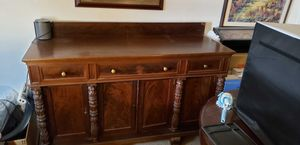 $700 2-item Package Price Classic Federal Empire Sideboard & Roundtop Table for Sale in Annandale, VA