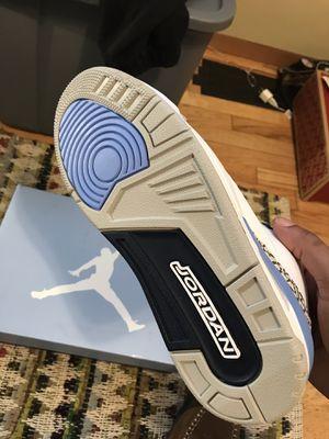 Jordan 3 UNC / VALOR BLUE for Sale in Seattle, WA