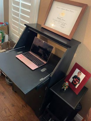 Secretary Desk with add-on side table (detached)