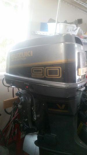 89 Suzuki DT90 V4 oil injection 2 stroke Outboard motor,r low hrs for Sale in Wenatchee, WA