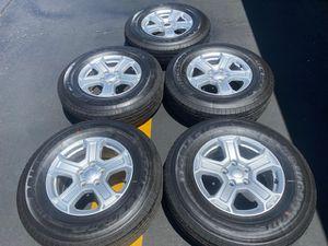 "(5) 17"" Jeep JL Takeoffs + 245/75R17 Bridgestone Dueler H/T - $525 for Sale in Santa Ana, CA"