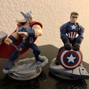 Thor and Captain America Disney Infinity Action Figures for Sale in Phoenix, AZ