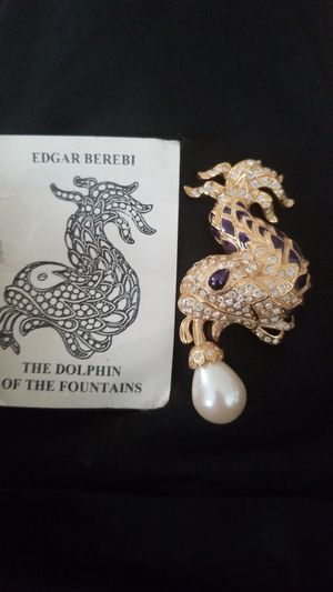 Edgar Berebi The Dolphin of the Fountains Brooch Pin for Sale in Gaithersburg, MD