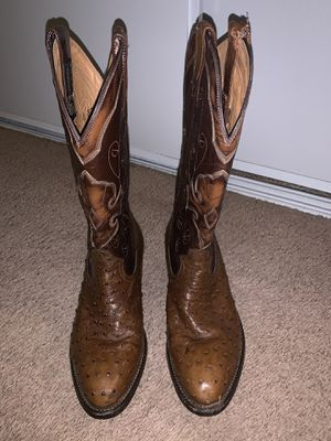 Montana's full quill ostrich boots sz 7EE in excellent condition for Sale in Norco, CA