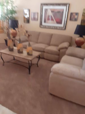 Microfiber sofa set from The Room Store for Sale in Gilbert, AZ