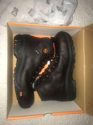 Timberland PRO Men's Titan Trekker Waterproof Work Boots (Dark Brown Leather, Size 12) for Sale in Duluth, GA