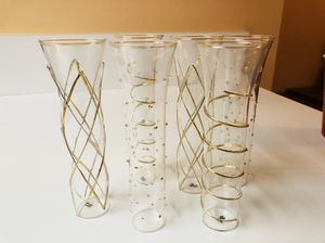 Hand-painted Champagne Flutes for Sale in Leesburg, VA