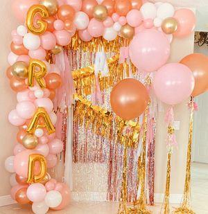 Grad Balloons Garland Balloon party celebrate decor for Sale in Tamarac, FL