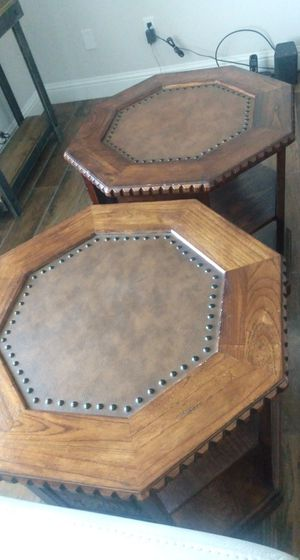 Heavy Wood End Tables for Sale in Fresno, CA