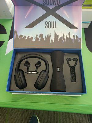 Great new item includes wireless speaker/wireless earbuds/wired earbuds/wireless headphones for Sale in Elkins, WV