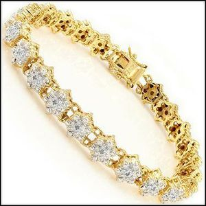 14k solid gold blue diamond bracelet for Sale in Vidor, TX